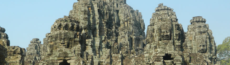 The complicated tower structures at Bayon, Angkor Thom