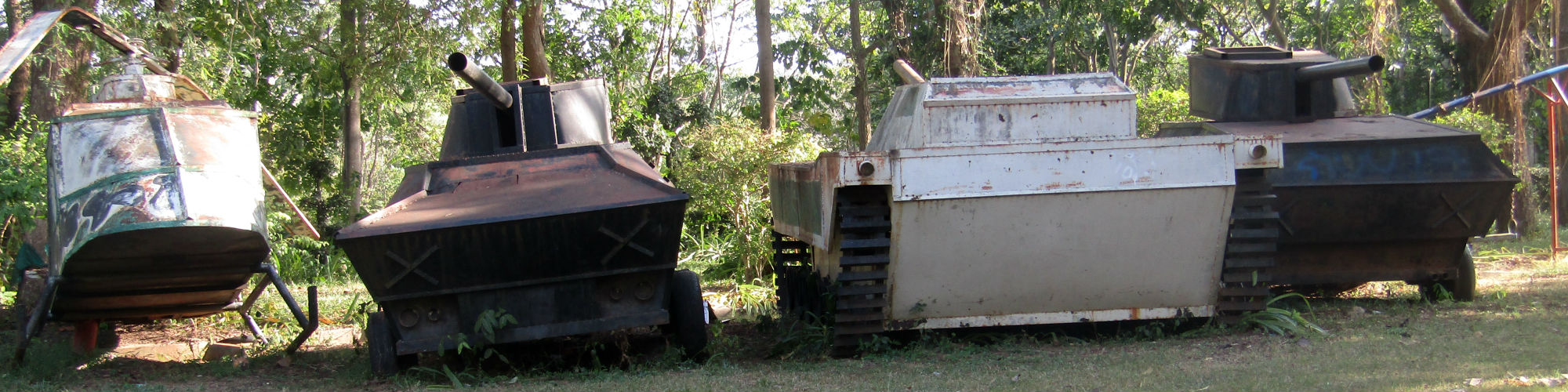 Relics of the communist uprising at the Rao Su Monument, Non Din Daeng District, Buriram Province
