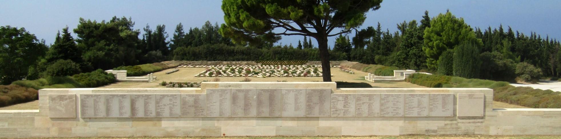 Lone Pine Cemetery and Memorial, Sari Bair Ridge, Eceabat District, Çanakkale Province