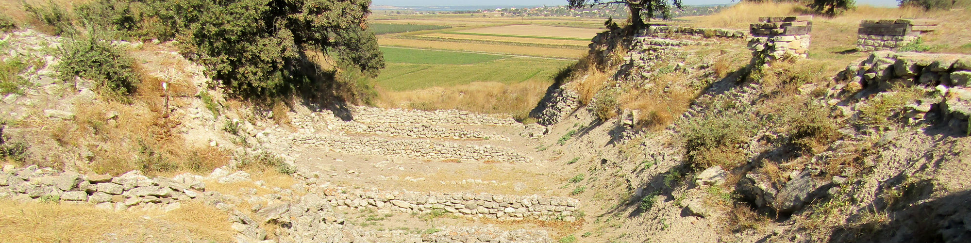 Schliemann's Trench, Ancient City of Troy Archaeological Site, Tevfikiye, Çanakkale Province
