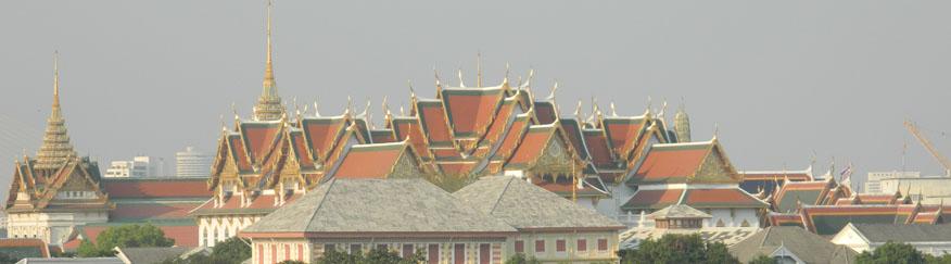 Wat Phra Kaew, view from Wat Arun